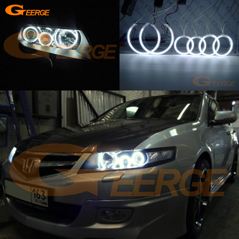 For honda accord CL7 CL9 CM2 2002 2003 2004 2005 2006 2007 Excellent Angel Eyes Ultra bright illumination CCFL angel eyes kit for mazda 3 mazda3 2002 2003 2004 2005 2006 2007 ultra bright day light drl ccfl angel eyes demon eyes kit warm white halo ring