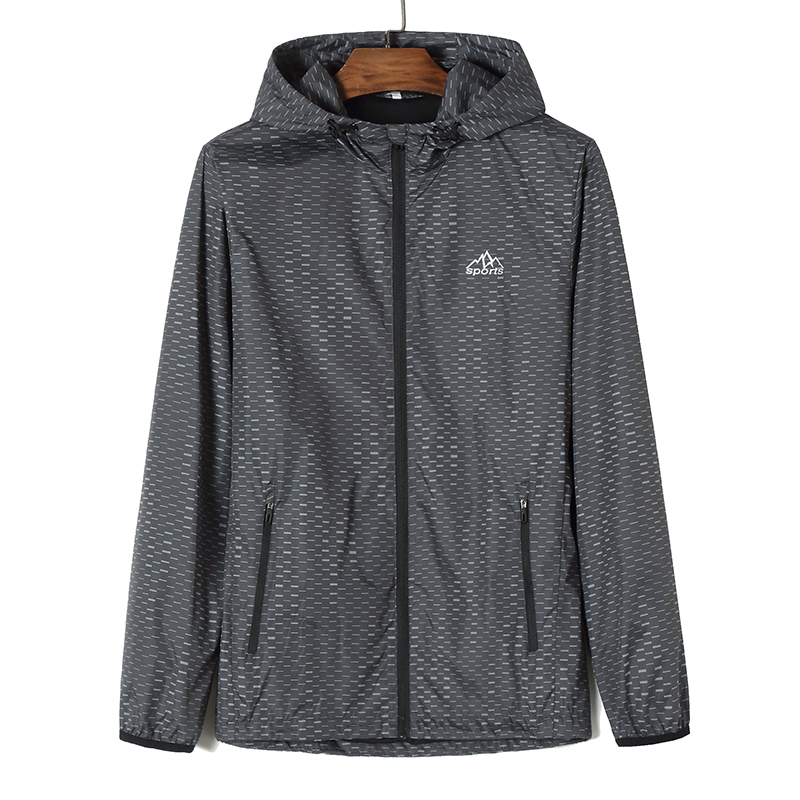 Куртка размера плюс 8XL 7XL 6XL 5XL 4XL, ветровка, мужские куртки, новинка 2019, весенне осенняя модная куртка, Мужская куртка с капюшоном - 5