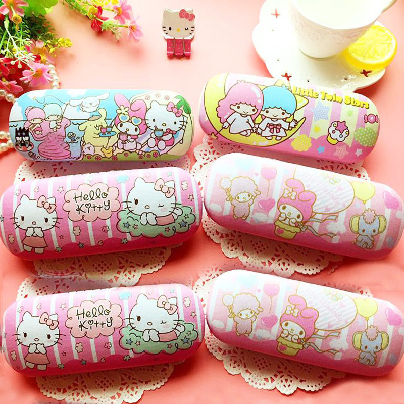 1 Pcs Kawaii Little Twin Star Hello Kitty PU pencil case pencil bag decoration For Kids gifts school supplies stationery kawaii kitty melody twin star sumikko gurashi gudetama canvas big capacity pencil pen bag