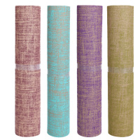 Non slip yoga mat 5mm natural linen rubber yoga mat yoga fitness mat lengthening professional