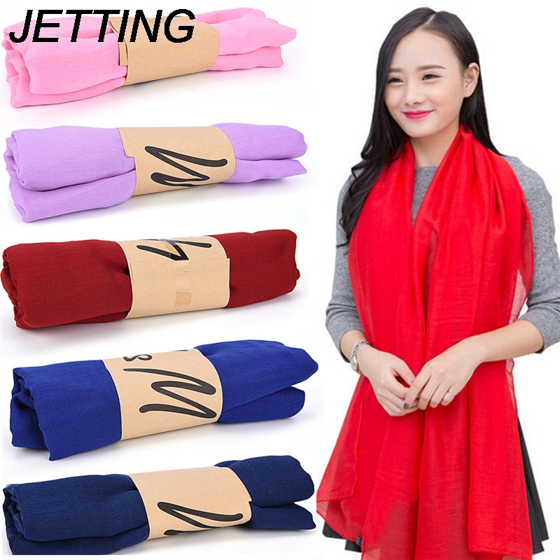 JETTING Trendy Stole Shawl New Fashion Lady Women Long Candy Colors Soft Cotton   Scarf     Wrap   Shawl   Scarves   Gift 1PC 2017