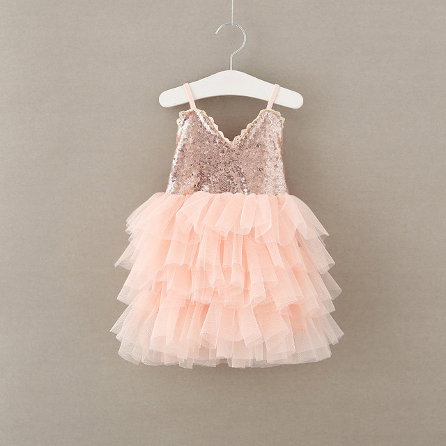 9b26b3557926a8 2017 baby meisjes kant pailletten jurken kids meisjes princess tutu jurk  meisje singlet feestjurk kinderen zomer