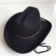 Large Brim Fedora Wool Cap Adult Fashion Woolen Felt Jazz Hat Men Women  Cowboy Caps Autumn 78d83aec339