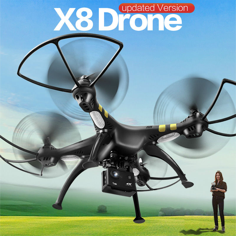 4K Brushless Motor X8 GPS Real Time RC Helicopter Drone With Camera HD 2 4G 6Axis
