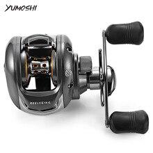 YUMOSHI 6.2:1 12 + 1 Ball Bearing Left / Right Hand Bait Fishing Baitcasting Reel