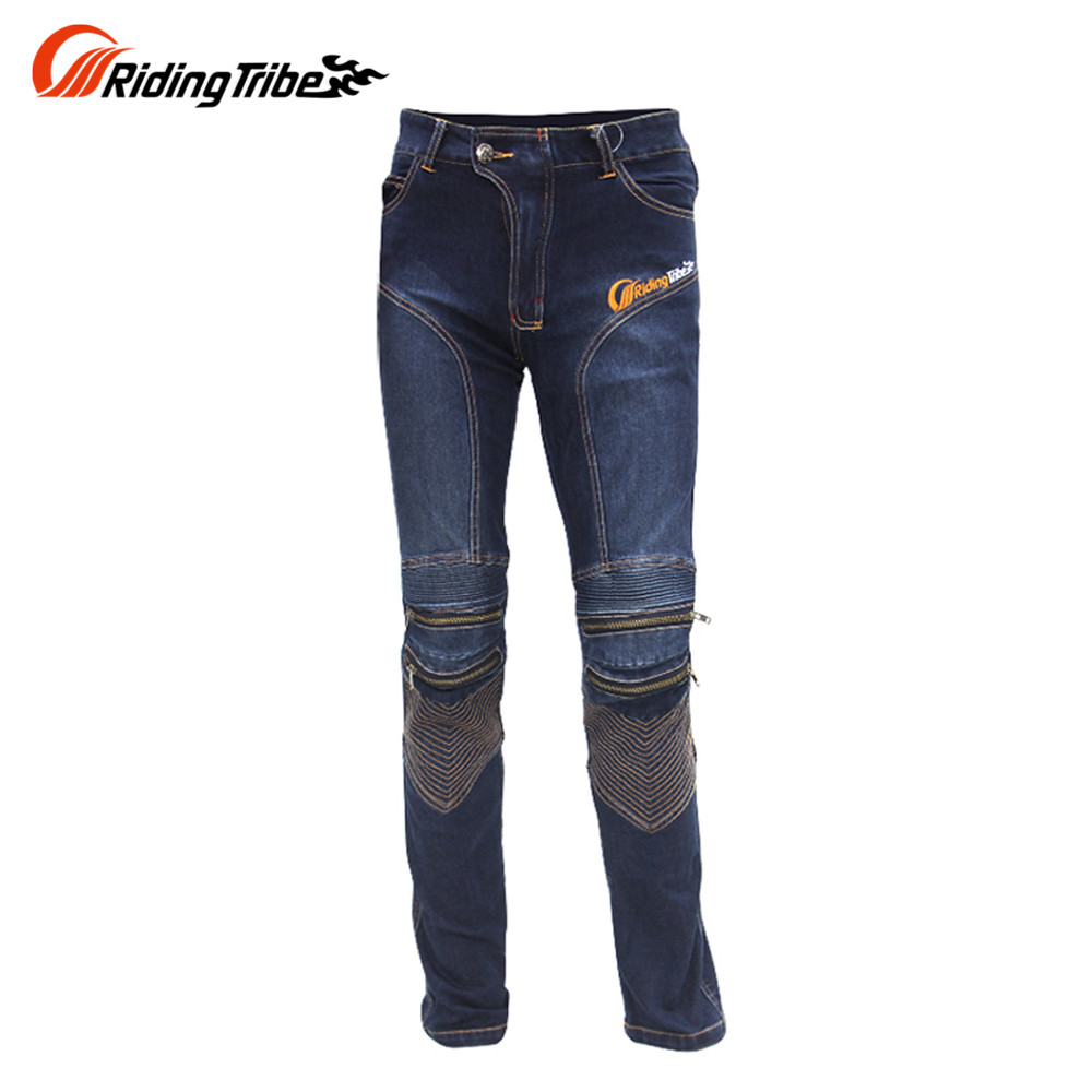 Riding Tribe Mens Motorcycle Hip Protector Jeans Motocross Downhill Pants Cotton Motorcycle Riding Anti Fall Jeans Trousers new 2016 fashion mens cotton ripped jeans pants with rivet men slim fit white black hip hop distressed biker jeans z17
