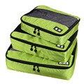 3 Unids/set Unisex Nylon Cubos de Embalaje Para Ropa Ligera de Equipaje Bolsas de Viaje Para Camisas de Los Organizadores Bolso de Lona Impermeable