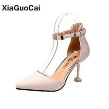 Women Pumps Spring Autumn Woman Shoes D'Orsay Piece Pointed Toe Thin High Heels 5cm 6cm Sexy Female Party Wedding Footwear цена в Москве и Питере