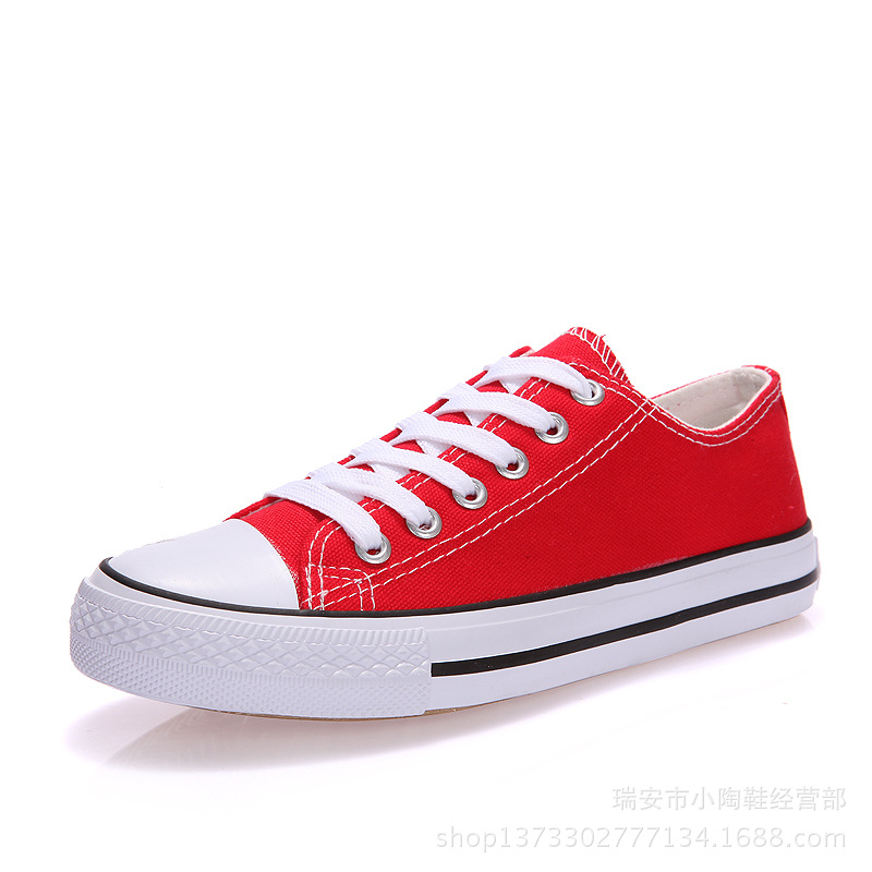 Casual Sneakers Canvas-Shoes Women's Flats Blue Classic Round-Toe Female White Woman