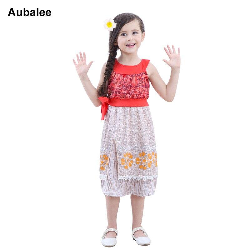 New Kids Girls Princess Moana Dress Adventure Outfit Moana Costumes Princess Fantasy Dress Halloween Christmas Children Cosplay