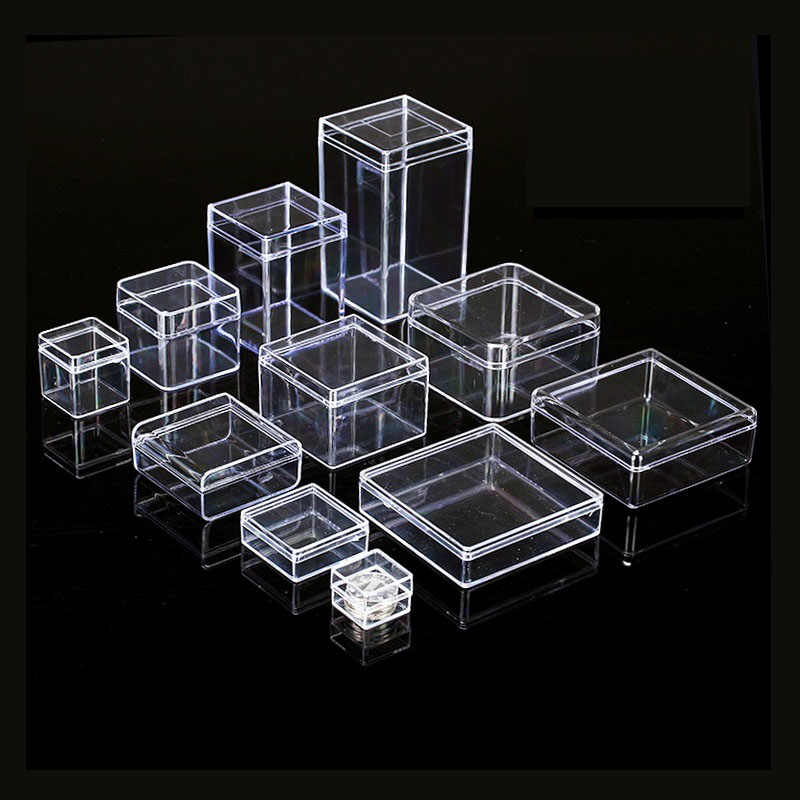 Square Clear Ps Plastic Storage Bo
