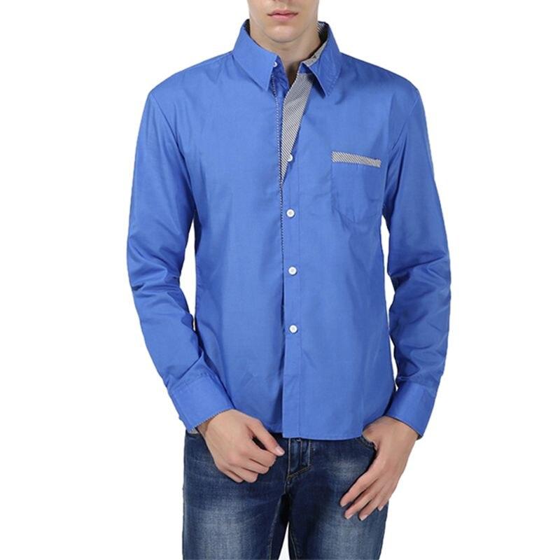Laamei 2018 New Fashion Brand Camisa Masculina Long Sleeve Shirt Men Korean Slim Design Formal Casual Male Dress Shirt Size 4XL