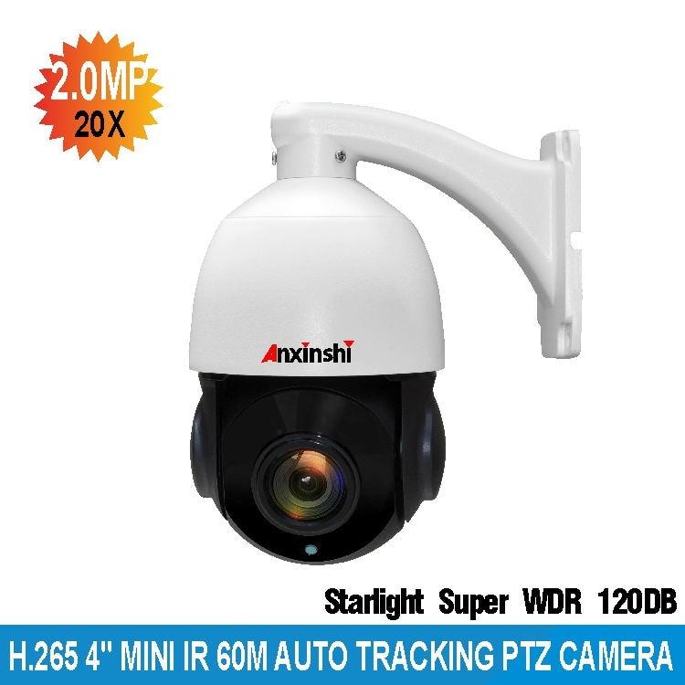 H.265 PTZ Telecamera IP 20X Zoom Speed Dome di Rete CameraSecurity Starlight 1080 P Auto Tracking IP PTZ telecamera IP