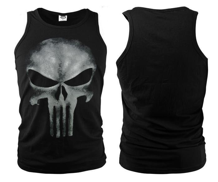 Lycra Cool Tshirt The Punisher Skull T Shirt Slim Black O-Neck Short Sleeve Tees Fashion Cotton T Shirt For Women Me