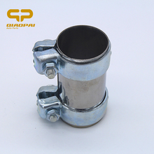 Stainless steel thicker Car Muffler Clamp  Exhaust Pipe 893253139B VW C4 A6 125*60 mm silver
