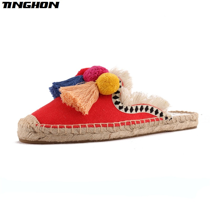 TINGHON-NEW-Summer-Linen-Flax-Cork-Women-Slides-Hand-made-Slippers-Tassels-Triple-Chuzzle-Fishermen-Shoes (3)