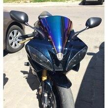 Дымчатое лобовое стекло для мотоцикла, лобовое стекло Ветер Экран для 2006 2007 Yamaha YZF-R6 YZF R6 600 черный Иридий прозрачный хром