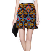 New Design Elegant African The Mini Skirt African Print Element Dashiki Clothing Tailor Custom For Wedding