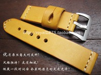 2019 watch bracelet belt yellow watchbands high quality Italian cowhide strap watch band 22mm 24mm watch accessories wristband
