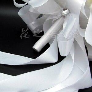 Image 3 - Romantic Wedding Bridesmaid Rose Pearls Artificial Flowers Bridal Bouquets Handmade Wedding Bouquets