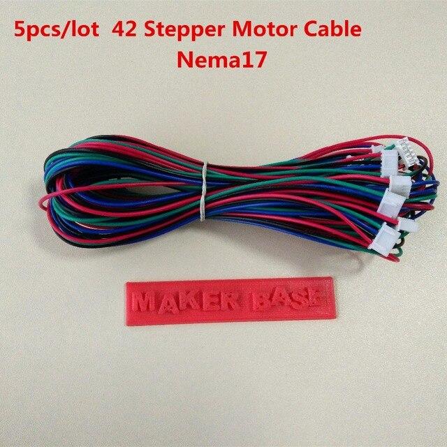 Nema 17 шаговый двигатель кабель RepRap двигателя проводки Dupont 4pin 6pin кабель 42 провод двигателя XH2.54 разъем nema17 провода 5 шт./лот