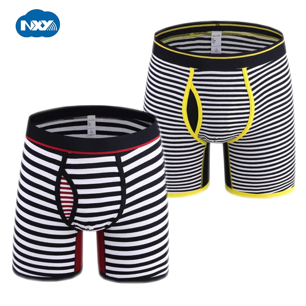 NXY 2017 new fashion Cotton cueca boxer mens underwear 2 pack boxer males gift mens striped shorts large size M ~ 6XL
