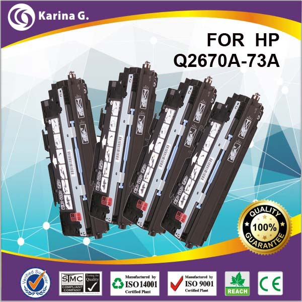 Colour laser toner cartridge for hp q2670a Q2671A Q2672A Q2673A  for HP  LaserJet 3500 3550 3700Color Series