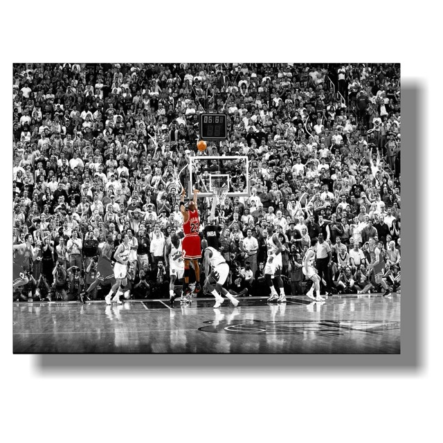 a53c3ced5bf Michael Jordan Classic Dunk Action Learning Poster Fabric Silk Print Room  Decor Classic record multiple dunk movements