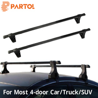 Partol 48inch Car Roof Rack Cross Bars 48 roof Rack Crossbar Roof Luggage Carrier Roof Rail 35KG/75LBS For 4 door car/truck/SUV