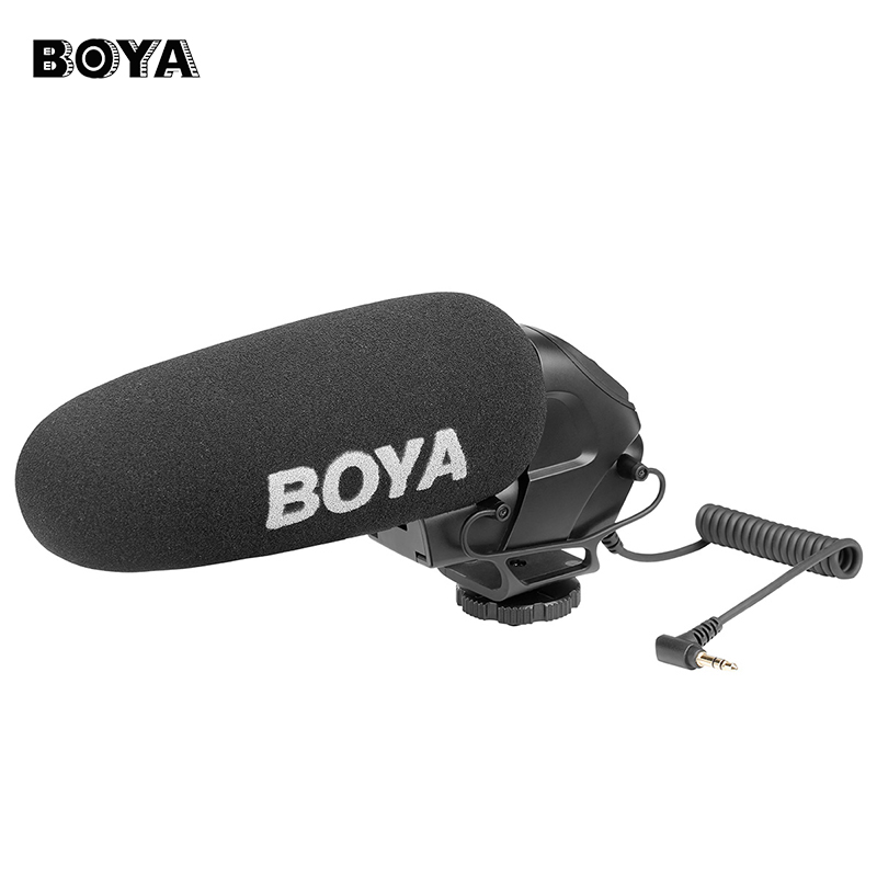 BOYA BY-BM3030 On-Camera Microphone for DSLR Cameras Video Audio Recorders Condenser Mic with 1/4 Screw 3.5mm Jack for Speech цена
