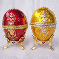 Free shipping Easter egg faberge jewelry trinket box Vintage decoration box metal crafts birthday Gift for Her Christmas gifts
