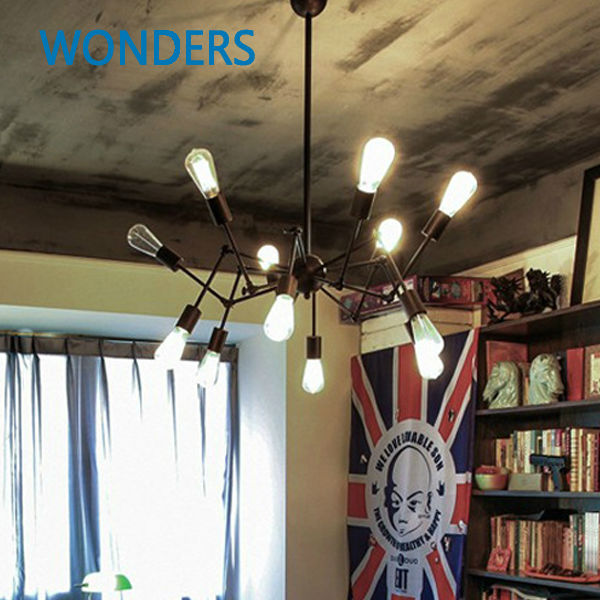 High quality branch shape iron Reminisced pendant lamp Loft Northern Europe american vintage retro country pendant light northern europe black iron chain pendant light 110 240v 40w with vintage pendant light