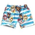 Traje de baño 2016 Verano estilo de La moda troncos de natación del muchacho perro de perrito de la historieta del bebé niños de los muchachos de la playa con traje de baño