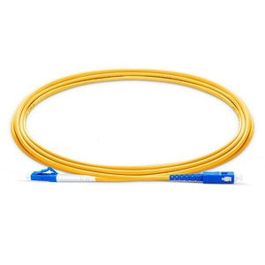 Image 2 - Fiber Optic Patchcord LC UPC to SC UPC Jumper Cable G657A Optical Cord Simplex 2.0mm PVC LC SC Connector FTTH Optic Cable