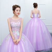 Sleeveless Blue Quinceanera Dresses Ball Gown Flowers Tulle Appliques Ball Dress Vestido Debutante Scoop Neck Sweet 16 Dresses