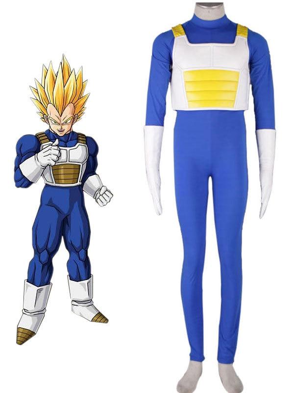 Free shipping Custom Adult  Japanese Anime DRAGON BALL Z Vegeta Cosplay Costume