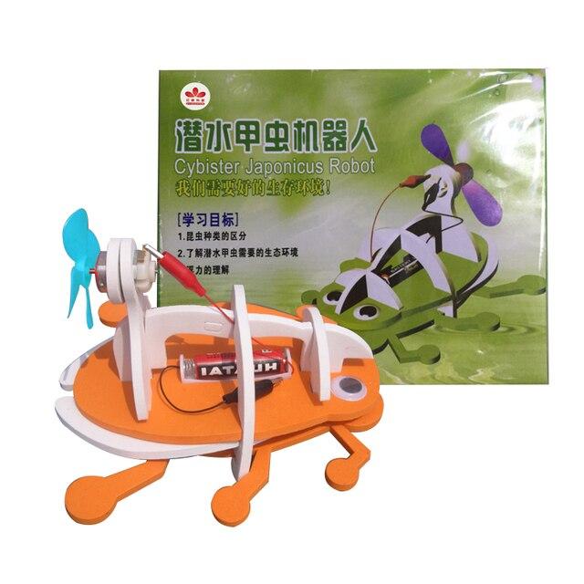Kits de modèle de scarabée électrique bionique bricolage jouets de Robot pour enfants