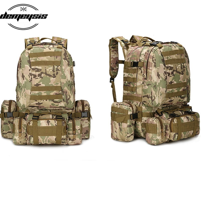 Sac à dos extérieur multifonctionnel Camping escalade randonnée sacs à dos militaire tactique sac à dos Molle sac de Sport Camouflage
