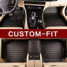 Custom fit auto fußmatten für Toyota Camry 40 Corolla RAV4 Verso FJ Land Cruiser LC 200 Prado 150 120 3D auto-styling teppich