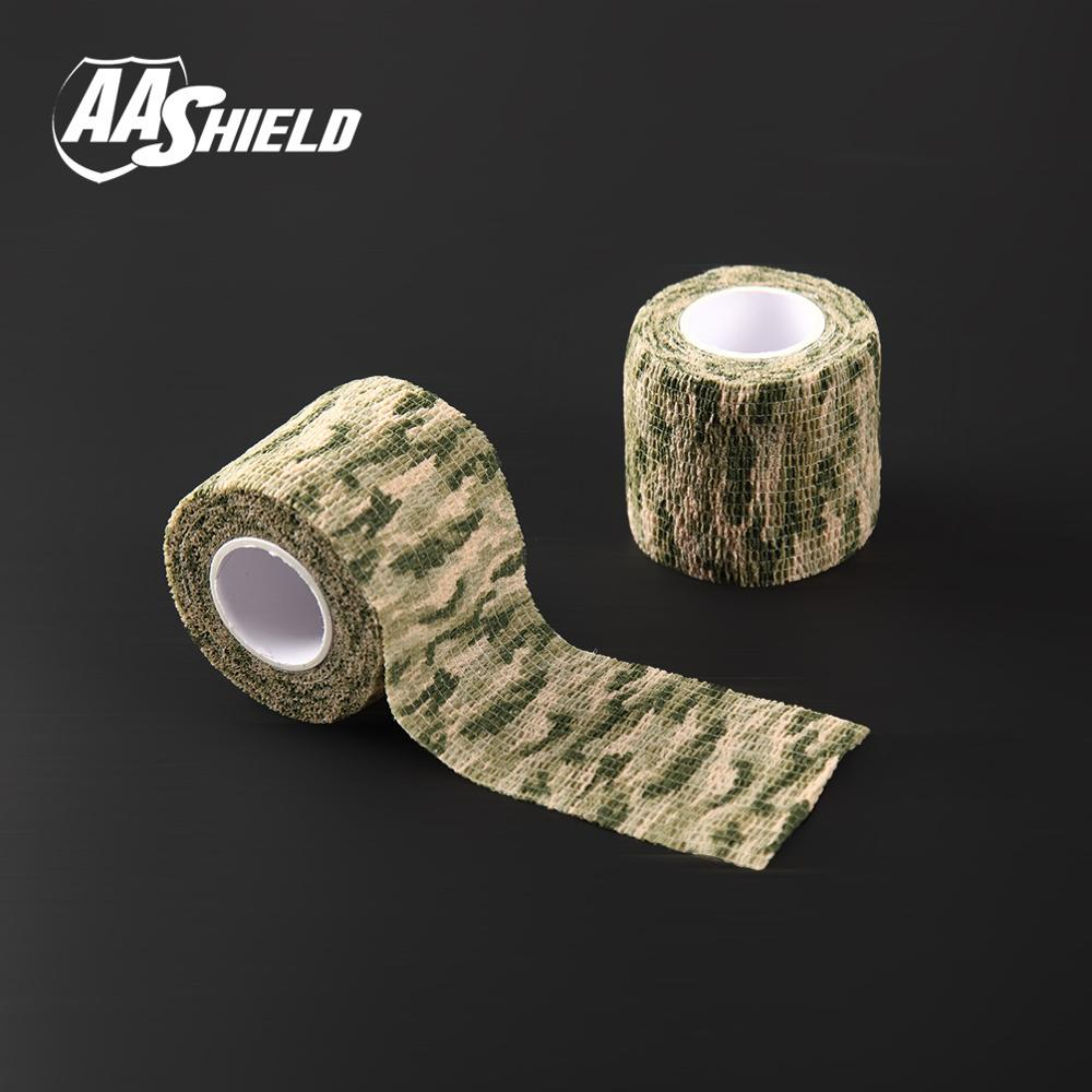 AA Shield Outdoor Camping bandage Camo Tape Military Rifle Covert Adhesive multicolor / Gun Grass 3PCS Free Shipping aa shield outdoor camping bandage camo tape military rifle covert adhesive multicolor gun black