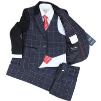 Big Boy Kids Boys Suit Korean Winter Flower Girl Dress Male Plaid Jacket Children Small Suit