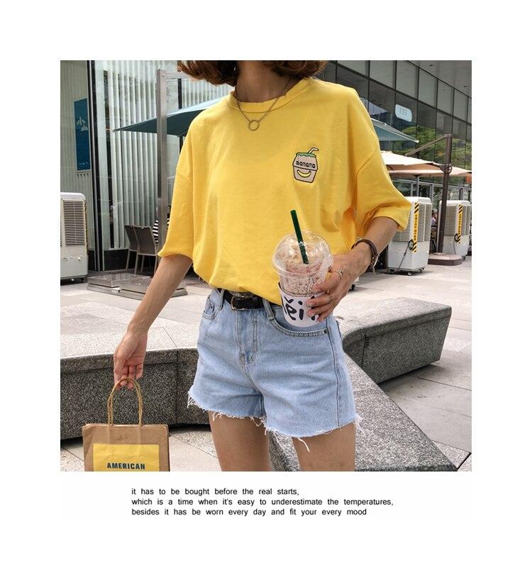 HTB1d0EPKFXXXXaRXpXXq6xXFXXXv - Summer New Cute Banana Milk Embroidered T-shirts PTC 192