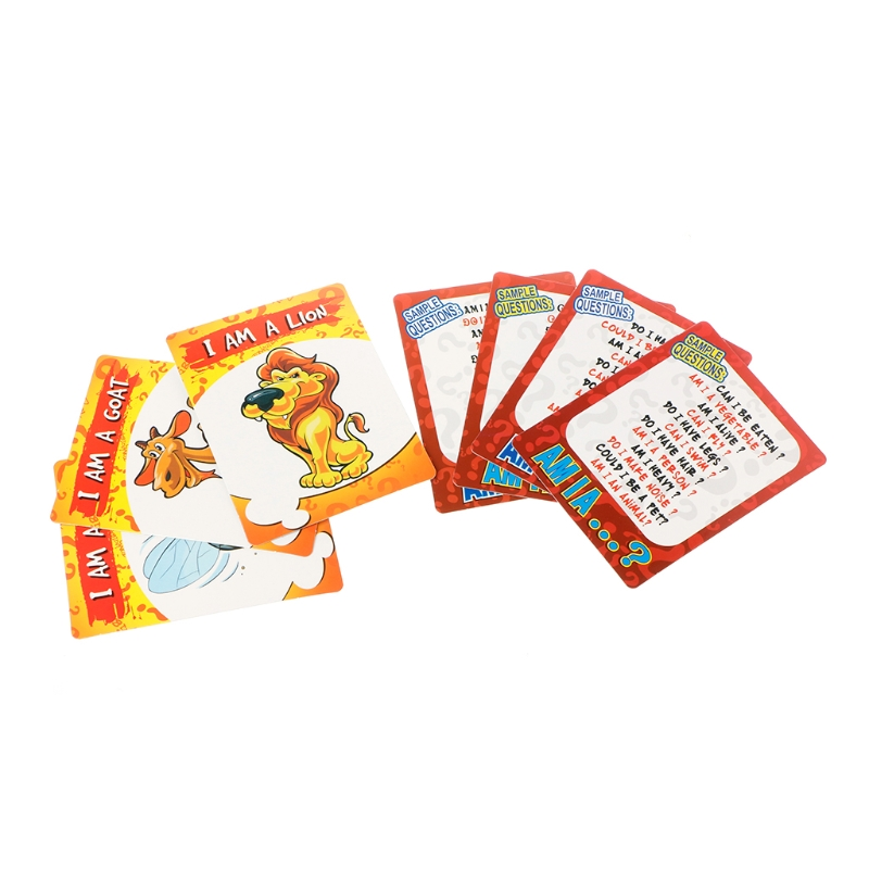 Qui Suis Je Suppose Que Jeux Famille Partie Conseil Carte Jeu Kid Éducatifs pour Enfants Jouet W15