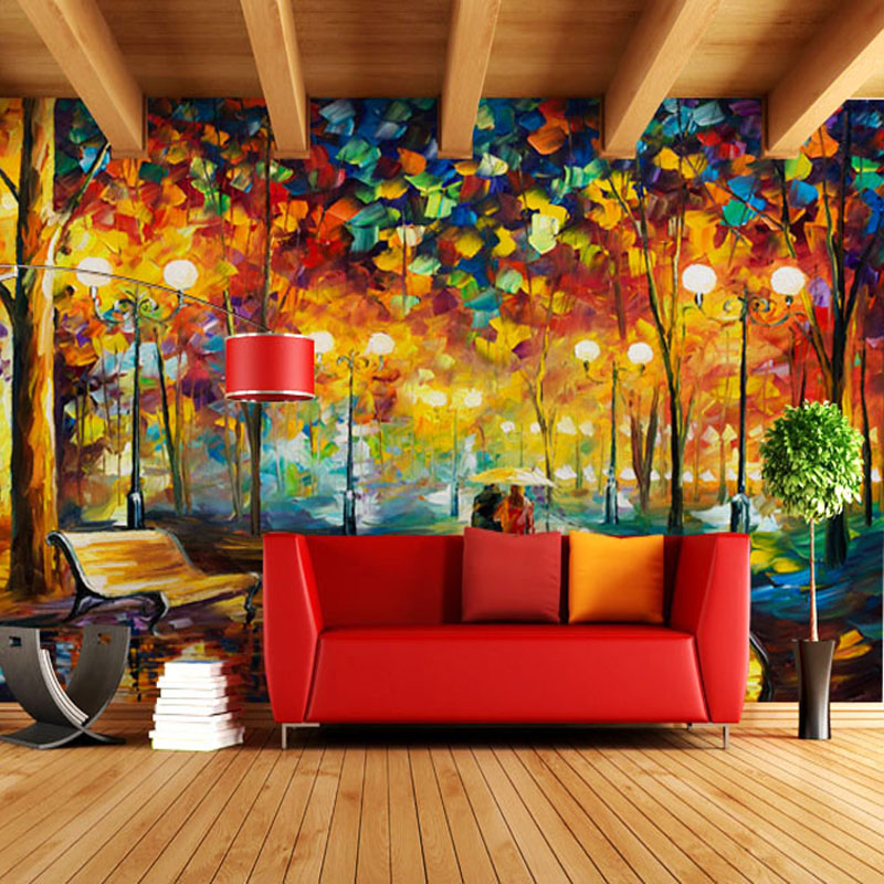 Abstract Tree Large Photo Wallpaper Mural Wall Paper 3D for Living Rooms Background Oil Painting papel de parede para Quarto