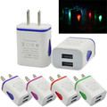 U LED USB 2 Port Wall Home Travel AC Charger Adapter For S7 US Plug  N0216