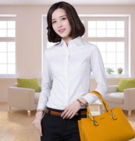 Long sleeved white shirt for women to be certified for fall 2017 ywj-BB126