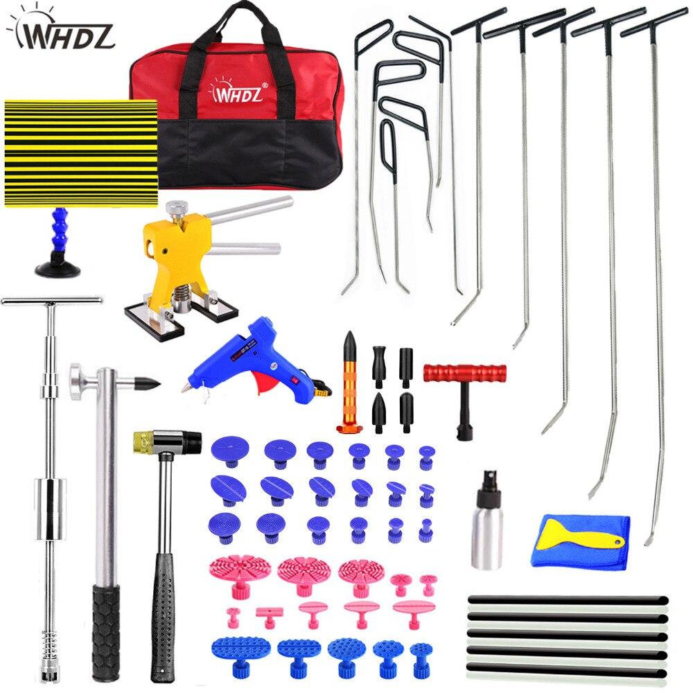 WHDZ PDR Rods Hook Tools Car Dent Repair Dent Removal slider hammer Reflector Board Dent Puller Lifter Glue Gun Tap Down Tool цены