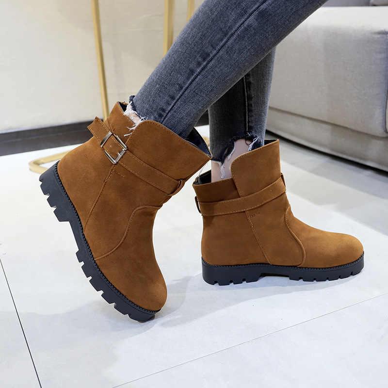 Nuevas botas negras para mujer botas de tacón bajo zapatos de mujer zapatos casuales de moda Otoño botas cómodas