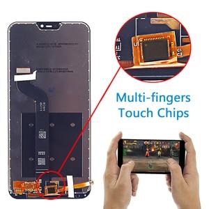"""Image 2 - Wyświetlacz LCD 5.84 """"dla Xiao mi Red mi 6 Pro montaż digitizera ekranu dotykowego rama szklana folia dla Xiao mi mi A2 Lite LCD"""