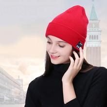 2018 Men Women Outdoor Sport Wireless Bluetooth Earphone Stereo Magic Music Hat Smart Electronics Hat for iPhone SmartPhone